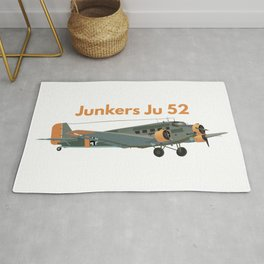 Junkers Ju 52 German WW2 Airplane Rug