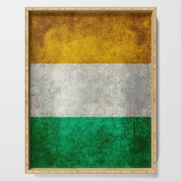 Flag of the Republic of Ireland, Vintage style Serving Tray