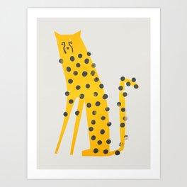 Speedy Cheetah Art Print
