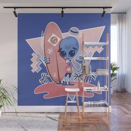 Alien Surf - Serenity & Rose Quartz Wall Mural