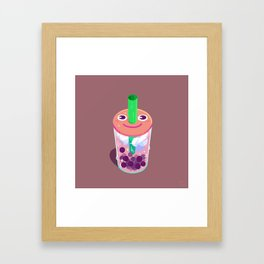 Boba Buddy Framed Art Print