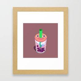 Boba Buddy Framed Art Print