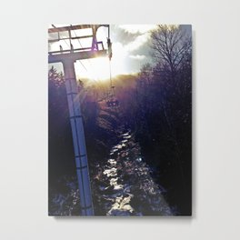 Chairlift on Sugarloaf Mountain in Carrabassett Valley, Maine Metal Print