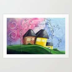 House A Home Art Print