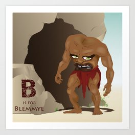 B is for Blemmye Art Print