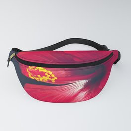 Ula Aloalo Hanohano Red Tropical Hibiscus Maui Hawaii Fanny Pack
