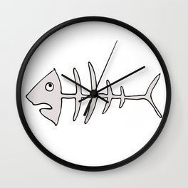 fishbones Wall Clock