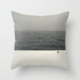 Snow minimalism Throw Pillow