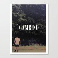 childish gambino Canvas Prints featuring Childish Gambino by blakethewizz