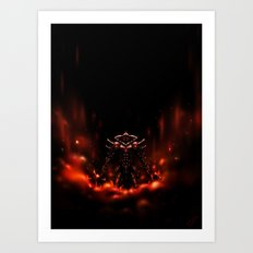 Demon Knight Art Print
