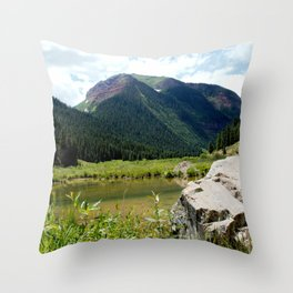Beaver Lodge at Bear Mountain Throw Pillow