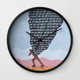 Heavy (No One Comes Home Alone) Wall Clock