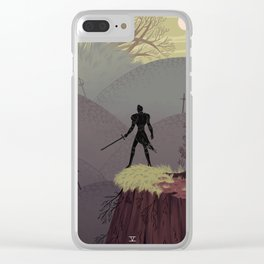 5 of Swords Clear iPhone Case