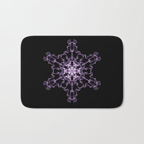 Purple Silk Snowflake Bath Mat