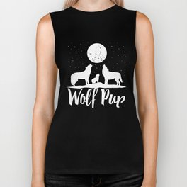 Wolf Pup Shirt Mama Papa Forest Wolf Pack Family of Wolves wolf t-shirts Biker Tank