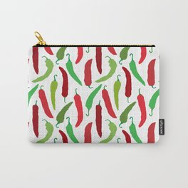 New Mexico Christmas Hatch Chiles in White Carry-All Pouch