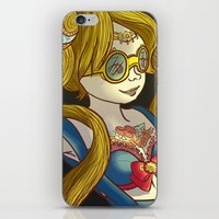 steam punk iPhone & iPod Skins featuring Sailor steam punk by K-Boomsky