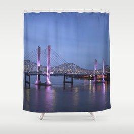 Lincoln Bridge Louisville, KY Shower Curtain