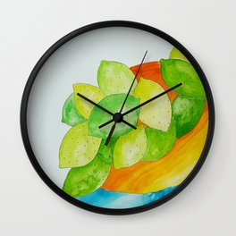 Lime Bowl Wall Clock