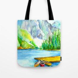 Lake Louise Watercolor Tote Bag