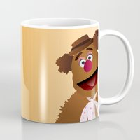 muppets Mugs featuring Fozzie - Muppets Collection by Bryan Vogel