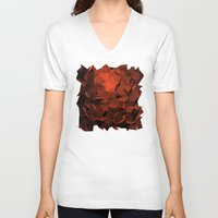 polygon V-neck T-shirts featuring Polygon 10 by Jambot