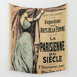 La Parisienne 1892 Women's Art Wall Tapestry