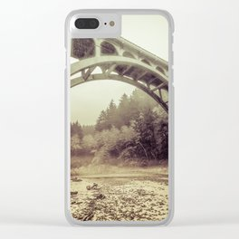 Cape Creek Bridge Oregon Coast Clear iPhone Case
