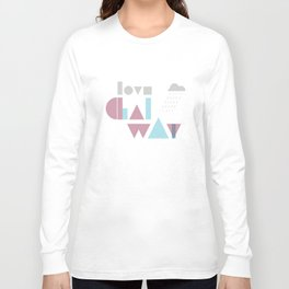 Love Galway - Typography Long Sleeve T-shirt