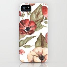 Circular Pink Florals iPhone Case