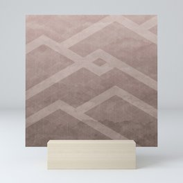 Chevron Grunge 5 Mini Art Print