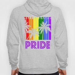 Tallahassee Pride Gay Pride LGBTQ Rainbow Palm Trees Hoody
