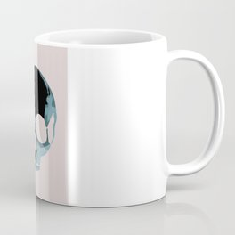Blue skull with heart and bow Coffee Mug