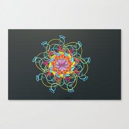 Loop Kisses Canvas Print