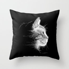 Mocha, the cat - Longing.......? Throw Pillow