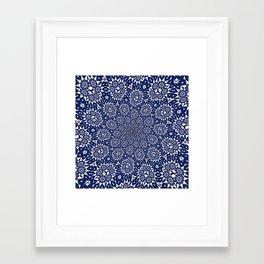 Bleu Gyre Royale Framed Art Print