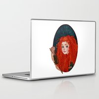 merida Laptop & iPad Skins featuring Merida from Brave by Naineuh