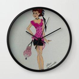 pink chiffon blouse, pink chiffon, pink blouse, fashion illustration, cute fashion, fashionable, Wall Clock