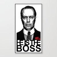 boardwalk empire Canvas Prints featuring Boss of the Boardwalk by DomaDART