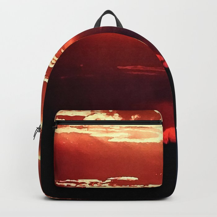 Burning Southern Setting Sun Backpack