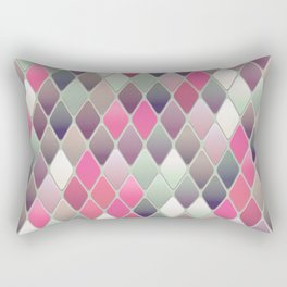 Abstract Mid Century Pattern Rectangular Pillow