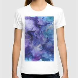 Blue and purple illustration T-shirt