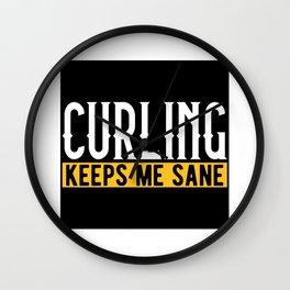 Curling Curling Lovers Design Motif Wall Clock