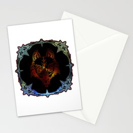 A Wolf Spirit Mirror Magic Miror Stationery Cards