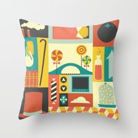 charlie Throw Pillows featuring Charlie by Ariel Wilson