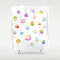 dot Shower Curtains featuring Dot Dot Dot by Yiying Lu