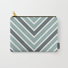 Chevron Shades of Gray & White Carry-All Pouch