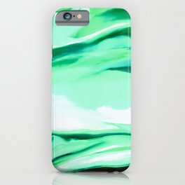 Green Abstract Painting iPhone Case