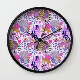 Cheetah Dreams Wall Clock