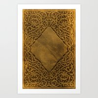book cover Art Prints featuring Vintage Ornamental Book Cover by Nicolas Raymond